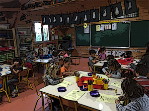 Grande section de maternelle à l'école privée bilingue internationale