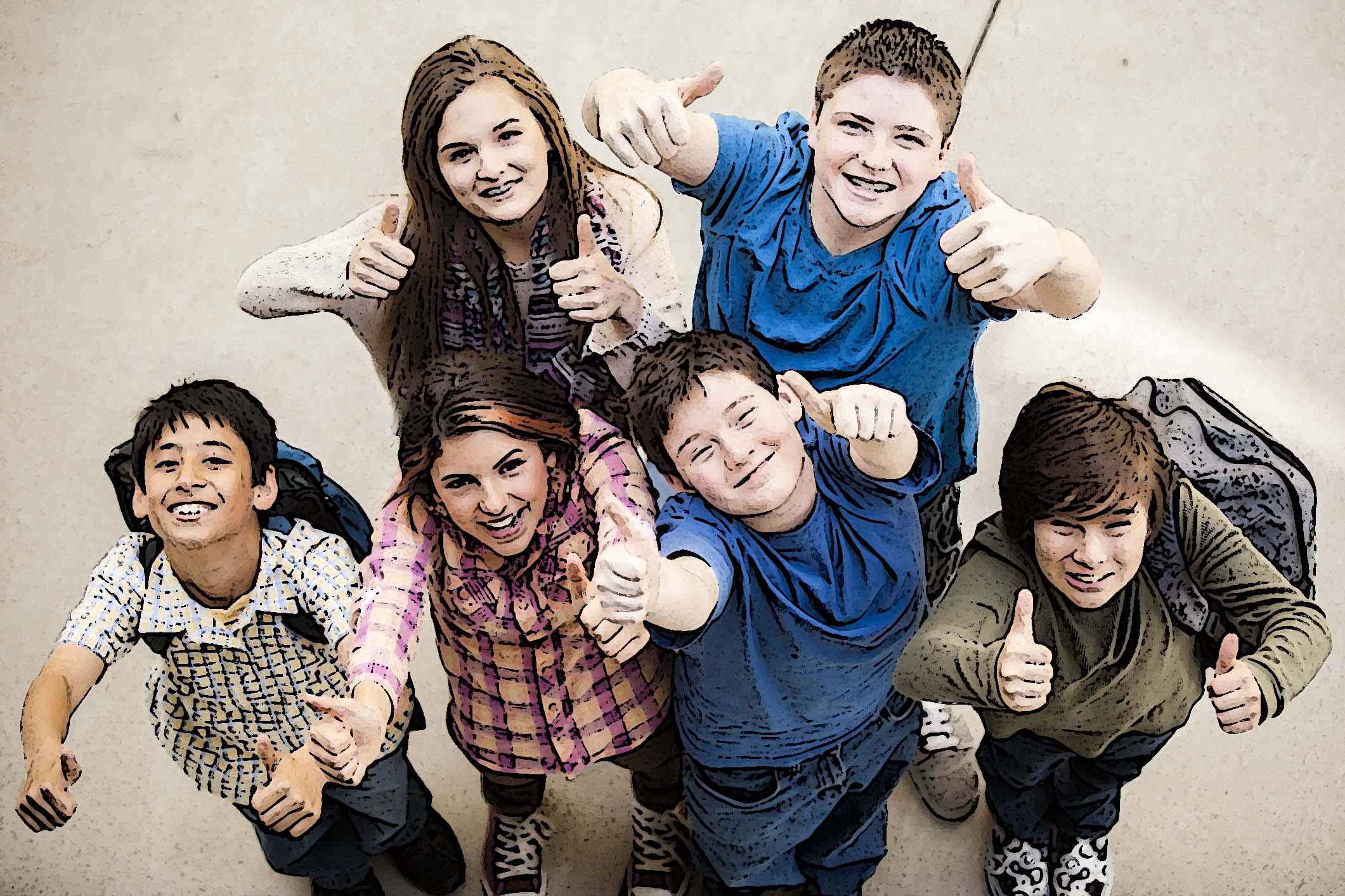 élèves du collège national à l'école privée bilingue internationale
